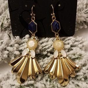 New York & Company Blue &  Gold Earrings